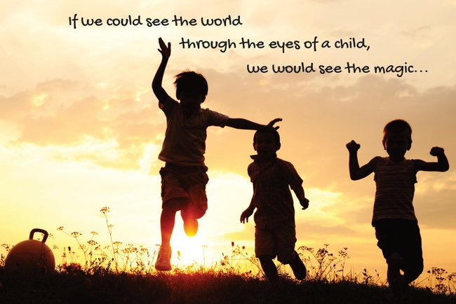 """If we all could see the World..."" Postcard"