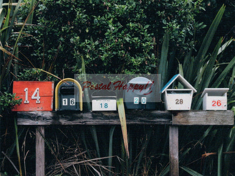 Tropical Mailboxes Postcard