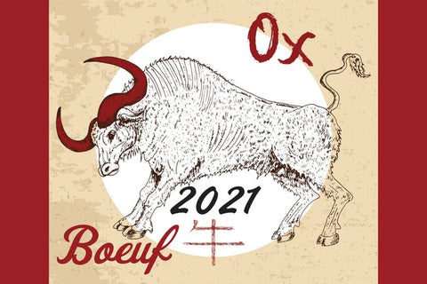 2021 Year of the Ox Postcard Type 2