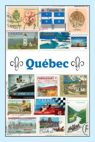 All About Québec Stamps Postcard