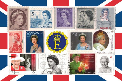 Queen Elizabeth Stamps Postcard