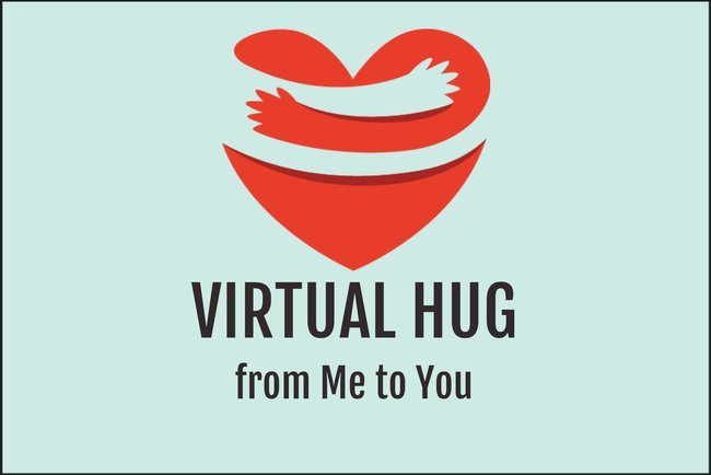 Virtual Hug Postcard