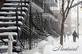 Winter Stairs Postcard
