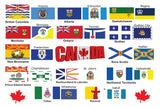 Flags of Canada's Provinces, Territories and their Capitals Postcard