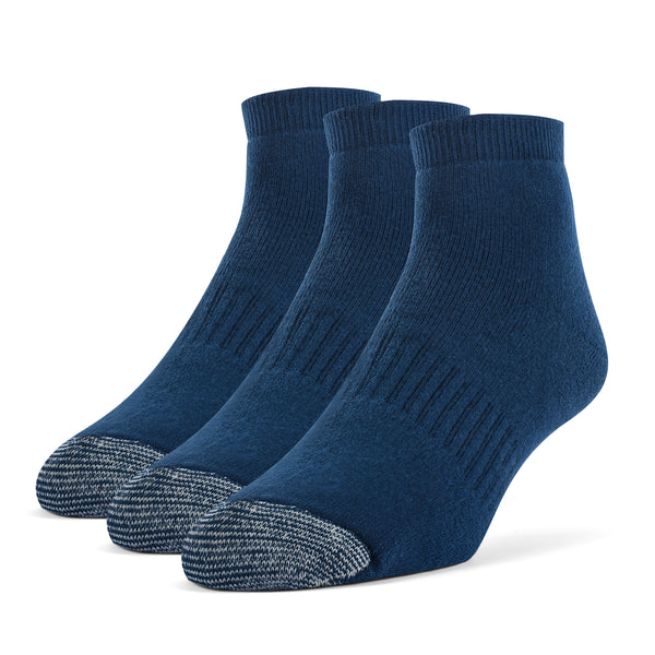 Galiva Men's Cotton ExtraSoft Ankle Cushion Socks - 3 Pairs, Small,  Navy Blue