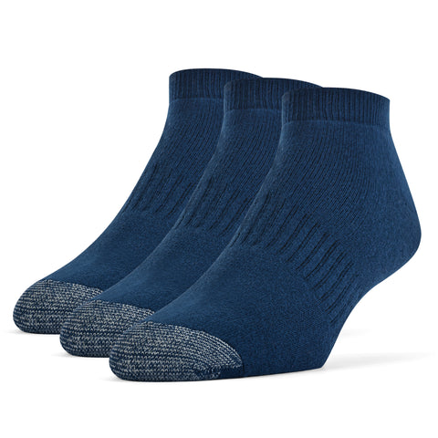 Galiva Men's Cotton ExtraSoft Low Cut Cushion Socks - 3 Pairs, Small,  Navy Blue