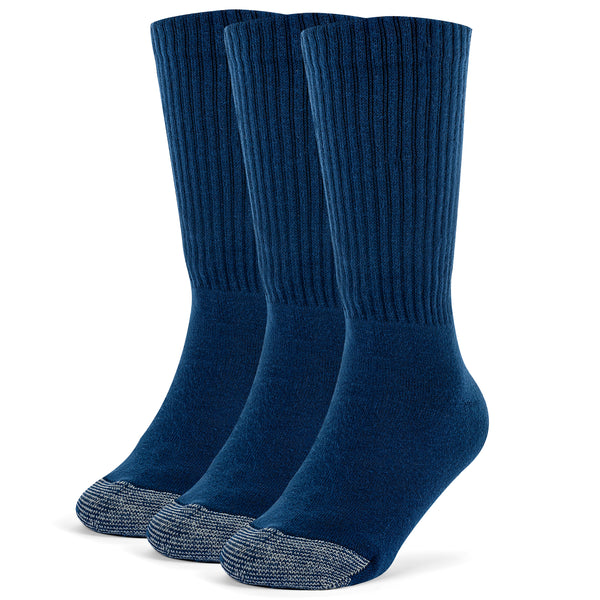 Galiva Boys' Cotton ExtraSoft Crew Cushion Socks - 3 Pairs, Small,  Navy Blue
