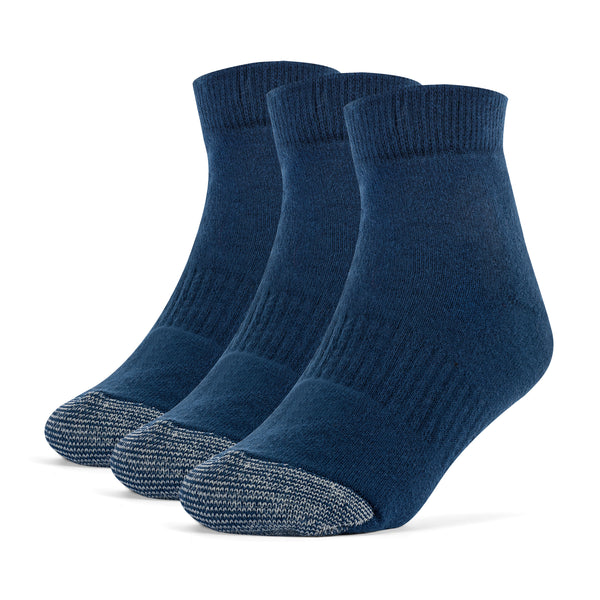 Galiva Boys' Cotton ExtraSoft Ankle Cushion Socks - 3 Pairs, Small,  Navy Blue