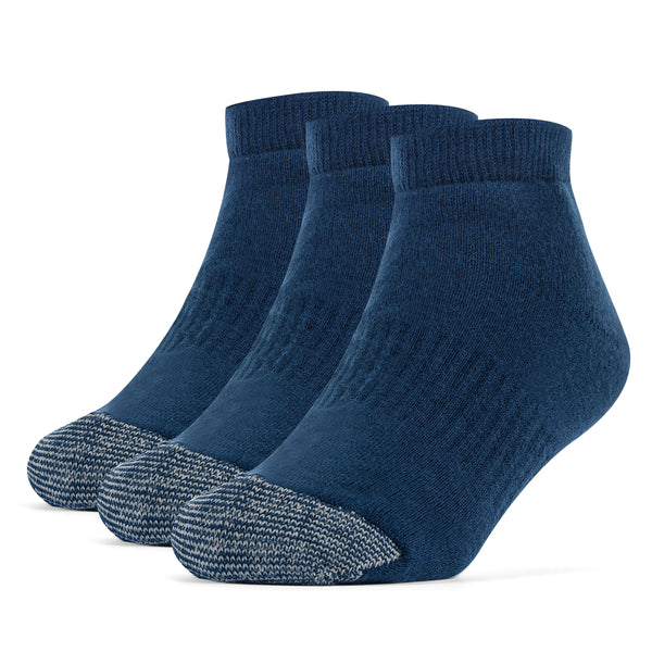 Galiva Boys' Cotton ExtraSoft Low Cut Cushion Socks - 3 Pairs, Small,  Navy Blue