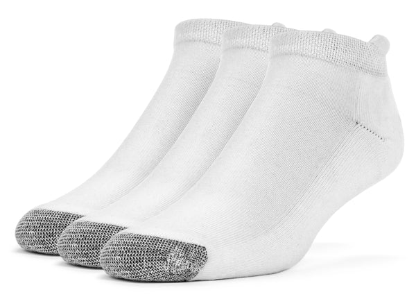 Galiva Women's Cotton ExtraSoft No Show Cushion Socks - 3 Pairs, Small, White