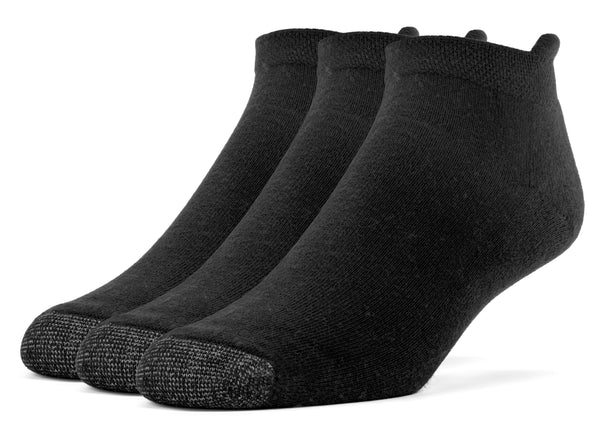 Galiva Women's Cotton ExtraSoft No Show Cushion Socks - 3 Pairs, Small, Black