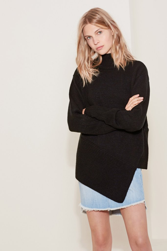 The call out knit from The Fifth Label in black