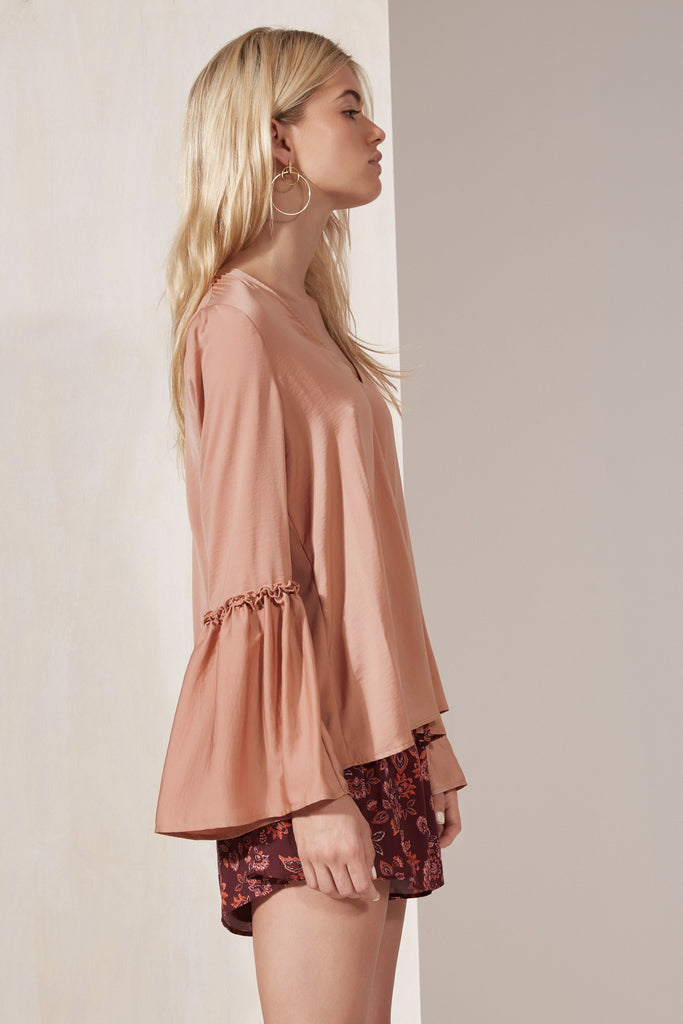 BANJO LONG SLEEVE TOP dusty blush
