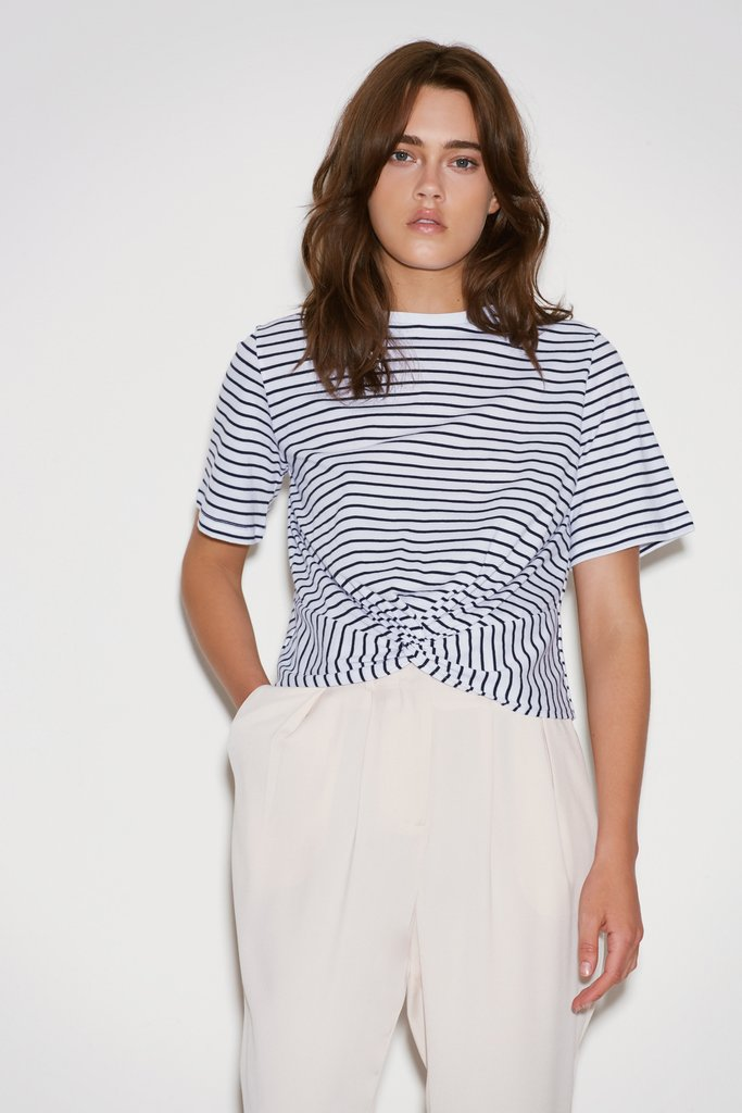 The recharge stripe t-shirt from The Fifth Label