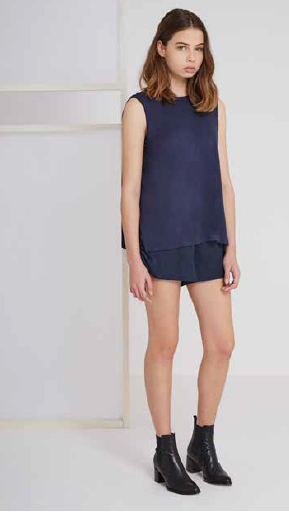 The From This Moment Top in midnight navy from The Fifth Label