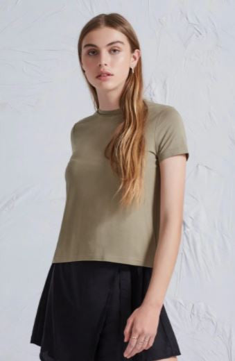 The peace and music t-shirt in khaki from The Fifth Label
