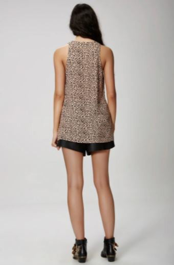 The passenger top in leopard print from The Fifth Label