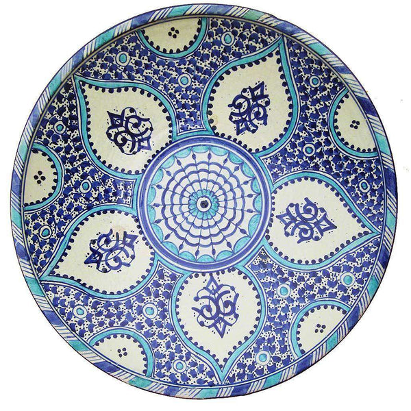 Large Hand-painted Ceramic Moroccan Dish #204,Moroccan Pottery,Ananse Village