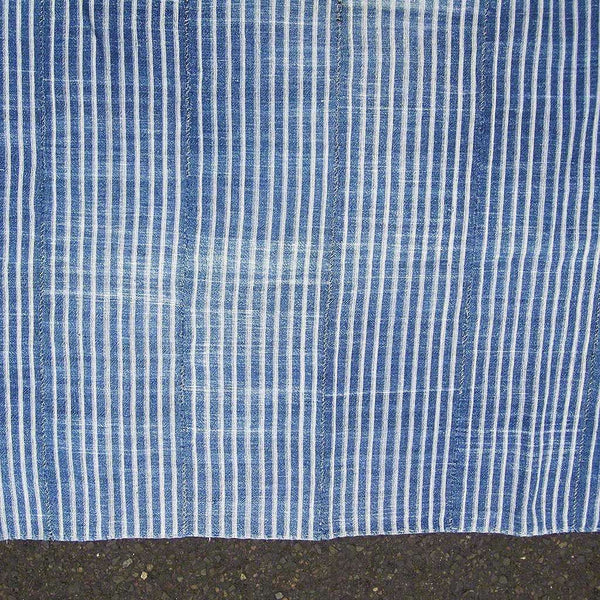 Vintage Strip Woven Stripe #341,Indigo,Ananse Village