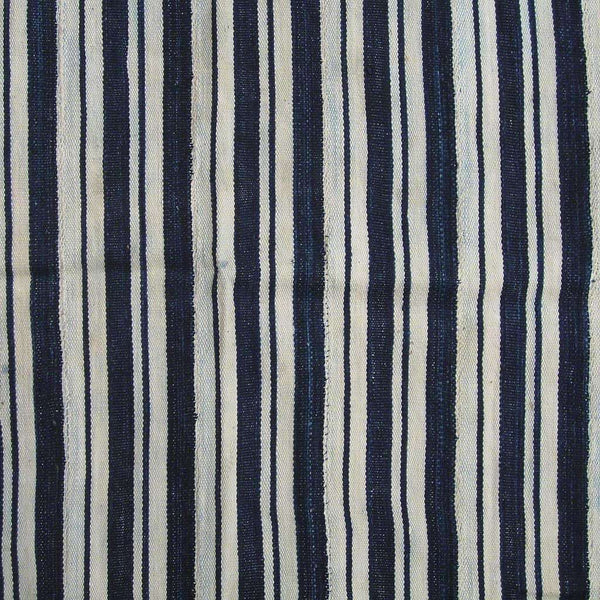 Vintage Strip Woven Stripe #340,Indigo,Ananse Village