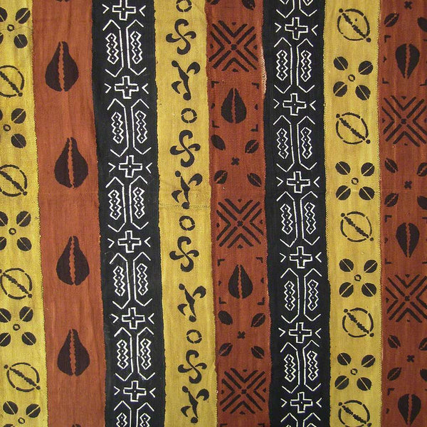 BOGOLANFINI STRIP WOVEN MUD CLOTH #163,Mudcloth,Ananse Village
