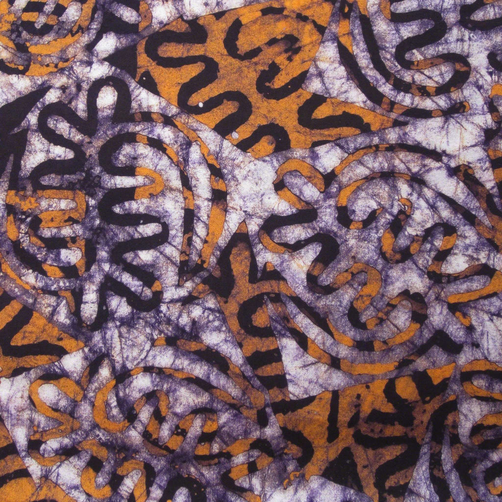 Authentic African Hand Dyed Batik Fabric From Africa