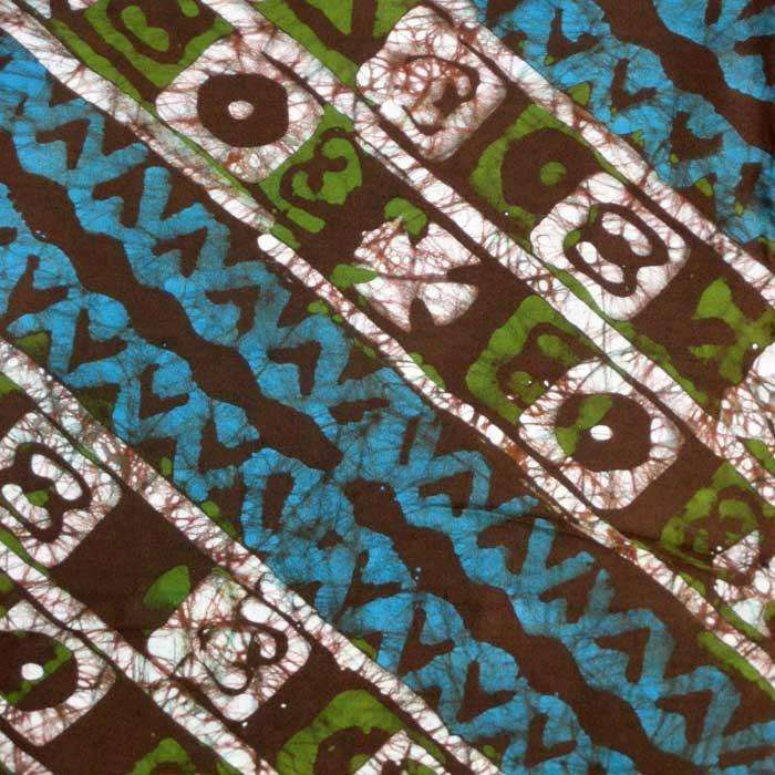 Fair Trade Hand Dyed Ethnic Wax Batik From Africa Ananse