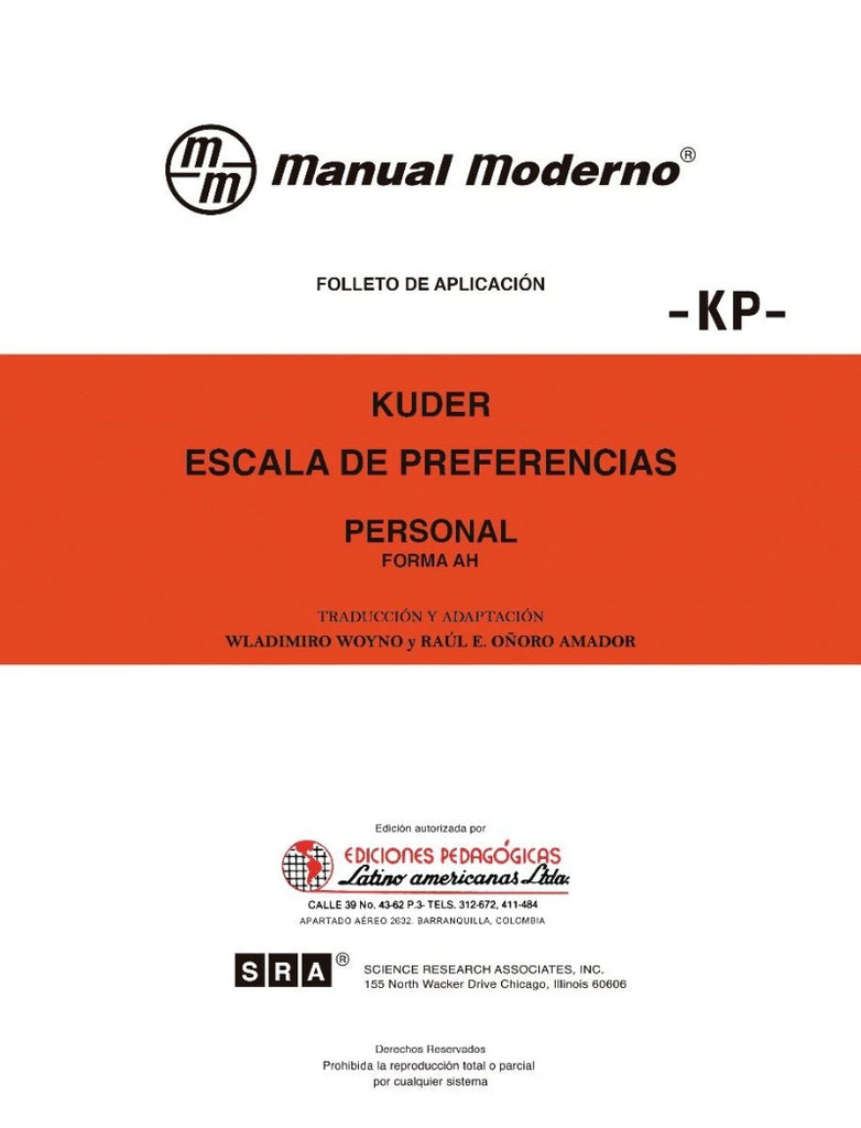 Escala de preferencias -Personal- KP