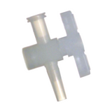 One-Way Stopcock Valve, Nylon Body, HDPE Plug, Female Luer to Male Luer