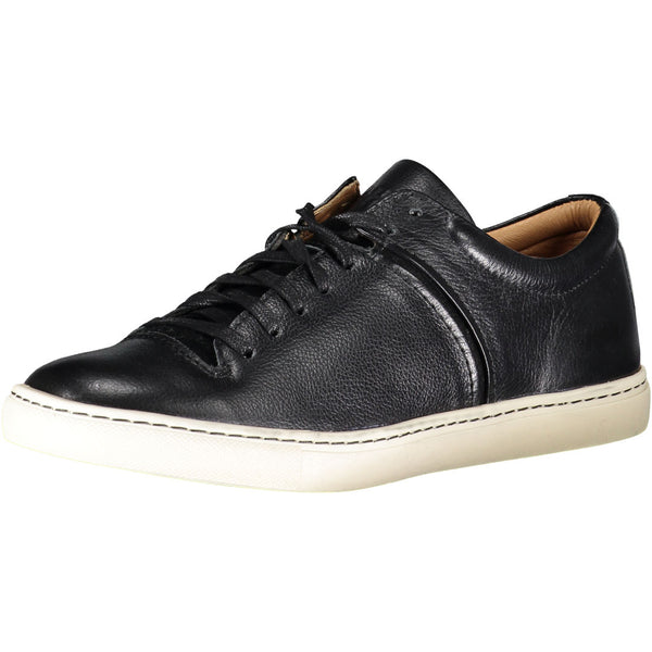 Men's leather leisure shoes. Removable insole adds comfort.