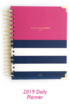nautical pink daily planner
