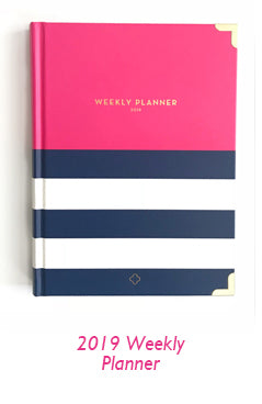 nautical pink weekly planner