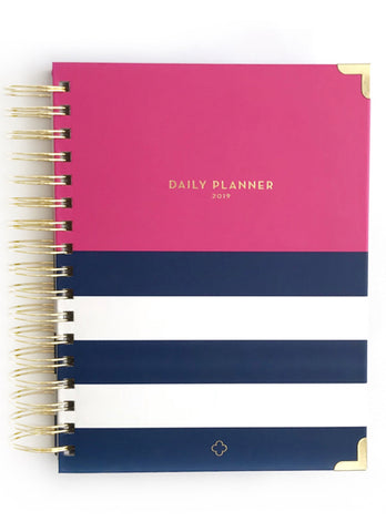 2019 Nautical Pink Daily Devotional Planner