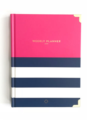 2019 Nautical Pink Weekly Devotional Planner