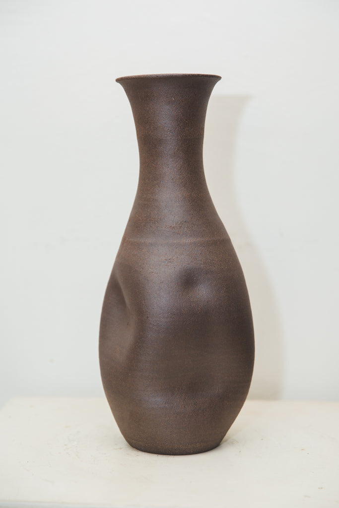 Big Brown Hugged Vase