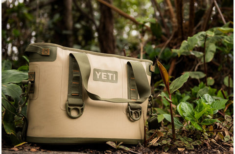Portable YETI Field Tan Hopper side