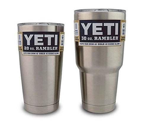 YETI Rambler Tumbler Stainless Steel - 20 oz or 30 oz