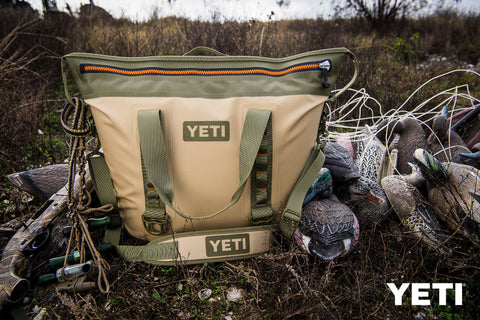 Portable Yeti Field Tan Hopper Two in use