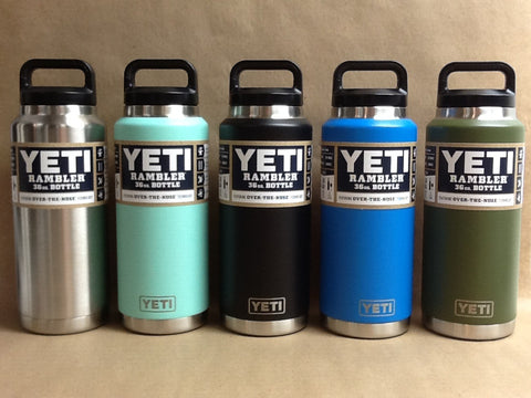 YETI Stainless Steel Rambler Bottle 36 oz All Colors