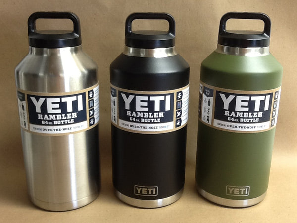 YETI Rambler Bottle Stainless Steel 64 oz - All Colors