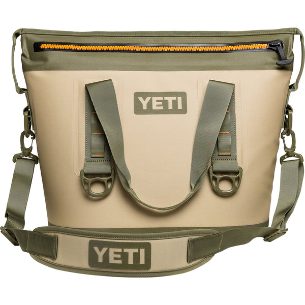 YETI Hopper Two Sizes 40 or 30 or 20 - Field Tan / Blaze Orange
