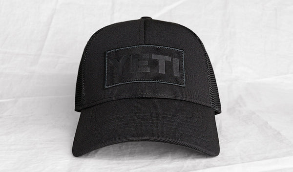YETI Black on Black Patch Trucker Hat - YHBONB