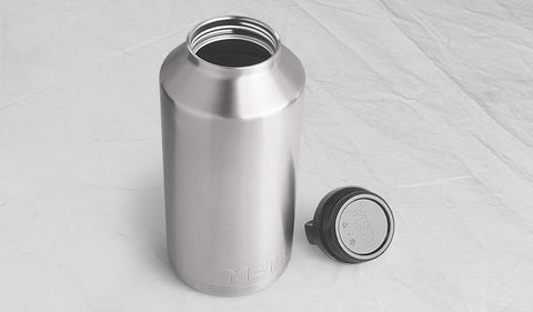 YETI Rambler Bottle 64 Stainless Steel lid removed