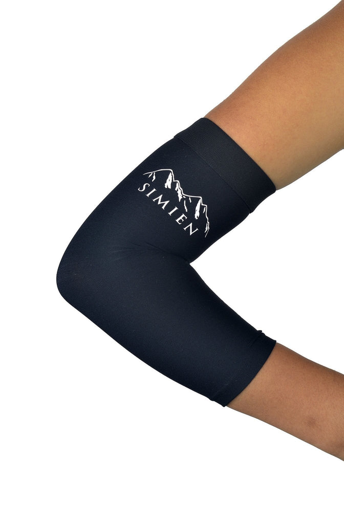 SIMIEN Tennis Elbow Sleeve (2-Count) - Reduces Inflammation and Pain - Tennis Elbow, Golfer's Elbow, Elbow Tendonitis - Forearm Compression Elbow Brace - 88% Copper - Guaranteed Results Or Money Back