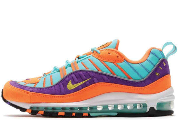 cheap for discount ee51d e374a Nike Air Max 98 QS Cone Tour Yellow Hyper Grape