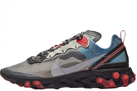Nike React Element 87 Black/Chilli Red