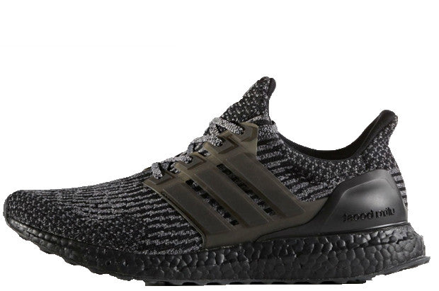 256a908ea9ff7 Adidas Ultra Boost Core Black-Metallic Silver Grey 3.0 – Crephut