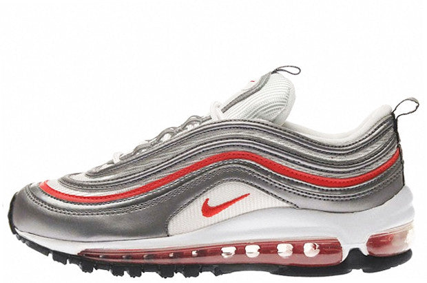 Nike Air Max 97 GS Metallic Silver/Chilling Red