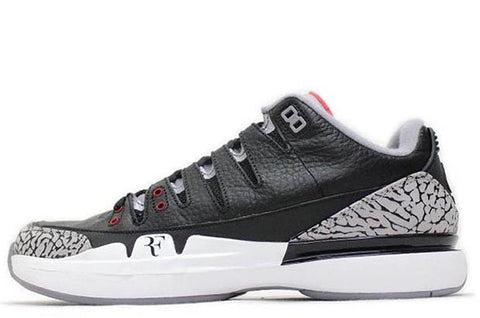 Nike Zoom Vapour Air Jordan 3 ' Black Cement '