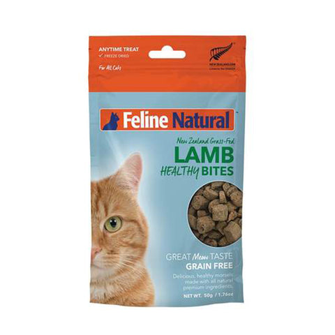 <b>Feline Natural</b><br>Lamb Healthy Bites<br><br>1.76 oz  - 50g